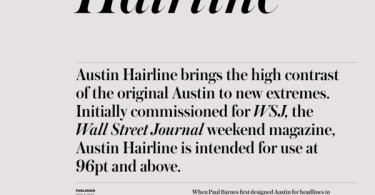 Austin Hairline Super Family [16 Fonts]