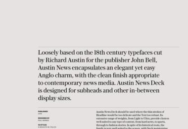 Austin News Deck Super Family [14 Fonts]