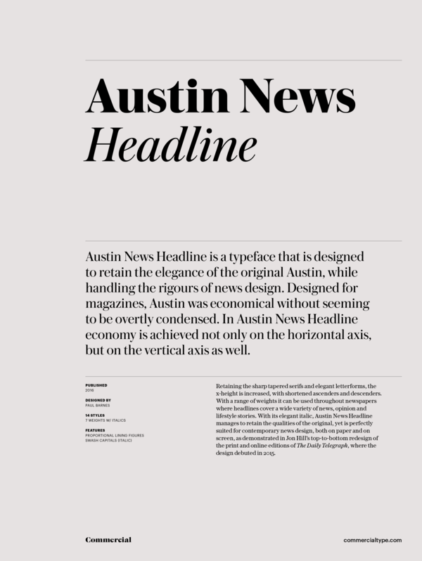 Austin News Headline Super Family [16 Fonts] | The Fonts Master