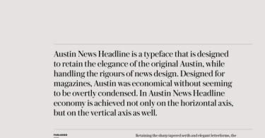 Austin News Headline Super Family [16 Fonts]
