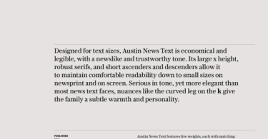 Austin News Text Super Family [10 Fonts]