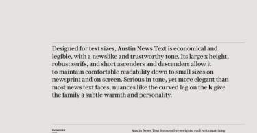 Austin News Text Super Family [10 Fonts]