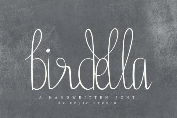 Birdella [1 Font] | The Fonts Master