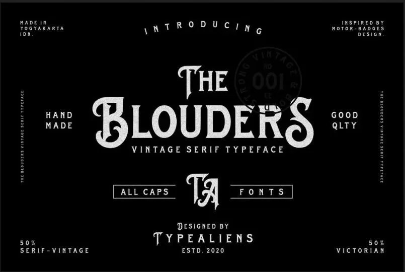Blouders [1 Font] | The Fonts Master