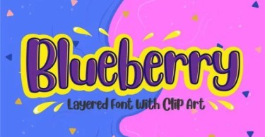 Blueberry [2 Fonts] | The Fonts Master