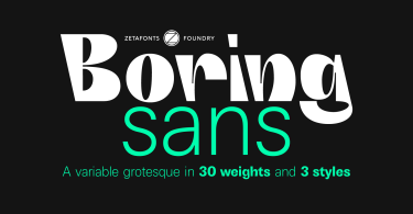 Boring Sans Super Family [32 Fonts]