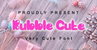 Bubble Cute [1 Font] | The Fonts Master