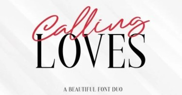 Calling Loves [2 Fonts] | The Fonts Master