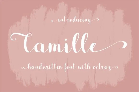 Camille [1 Font] | The Fonts Master