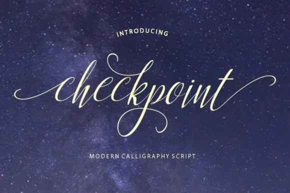 Checkpoint [1 Font]   The Fonts Master