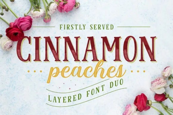 Cinnamon Peaches [7 Fonts]