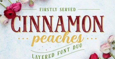 Cinnamon Peaches [7 Fonts] | The Fonts Master