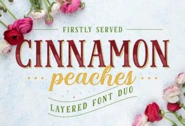 Cinnamon Peaches [7 Fonts]