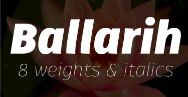 Ballarih Super Family [16 Fonts]