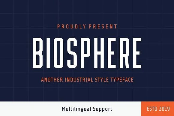 Biosphere [1 Font]   The Fonts Master