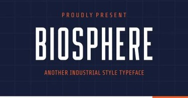 Biosphere [1 Font] | The Fonts Master