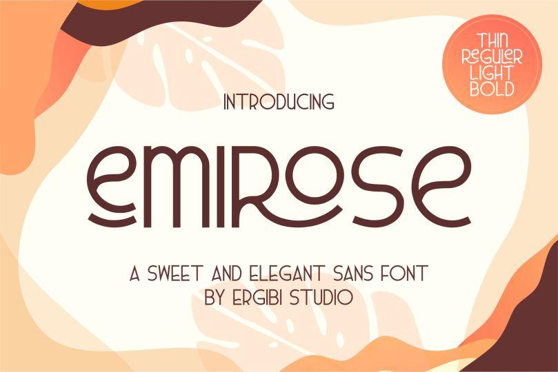 Emirose [4 Fonts] | The Fonts Master