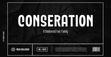 Conseration [5 Fonts]   The Fonts Master
