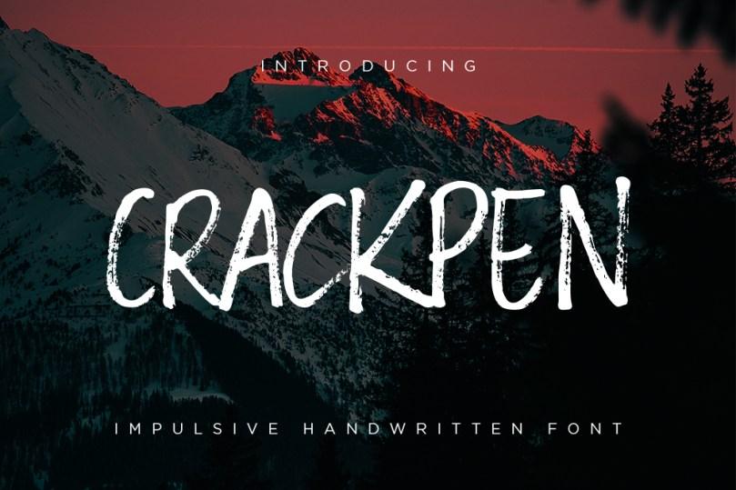 Crackpen [1 Font] | The Fonts Master
