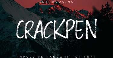 Crackpen [1 Font] | The Fonts Master