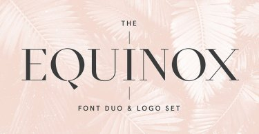 Equinox [2 Font] | The Fonts Master
