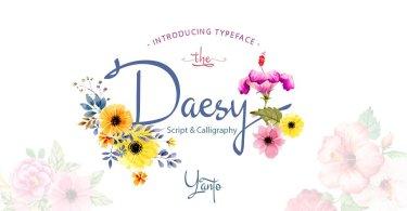 Daesy Script [1 Font] | The Fonts Master