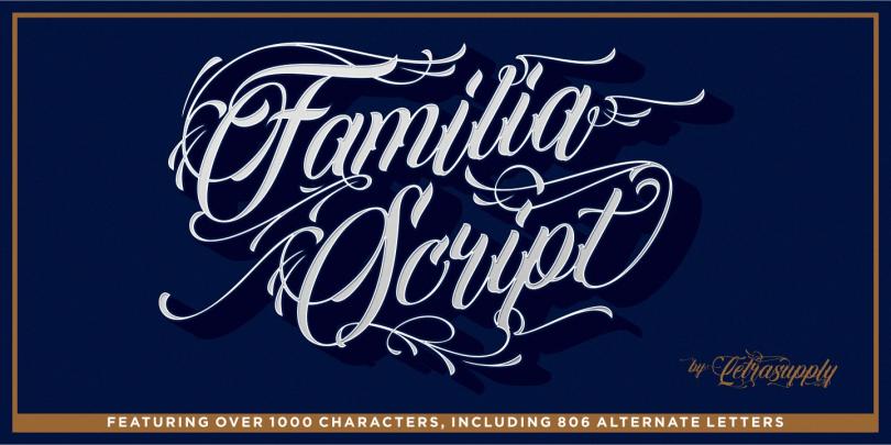 Familia Script [1 Font] | The Fonts Master