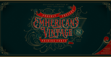 Ns Emhericans Vintage [4 Fonts] | The Fonts Master