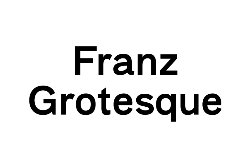 Franz Grotesque [1 Font]   The Fonts Master