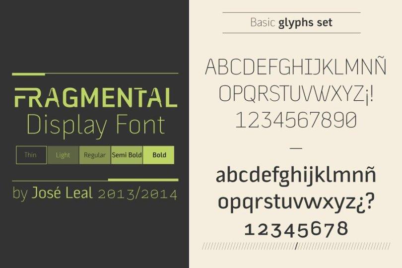 Fragmental [5 Fonts] | The Fonts Master