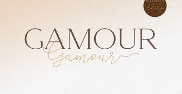 Gamour [3 Fonts] | The Fonts Master