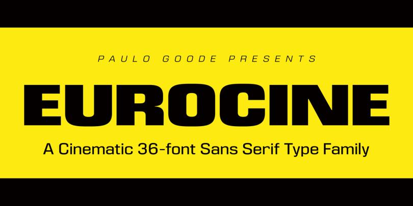 Eurocine Super Family [36 Fonts] | The Fonts Master