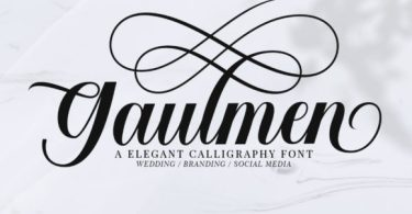 Gaulmen [1 Font] | The Fonts Master
