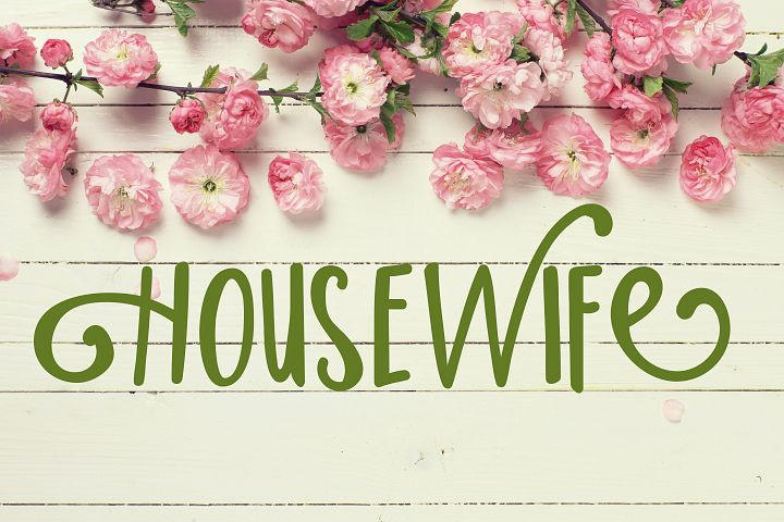Housewife [1 Font] | The Fonts Master