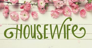 Housewife [1 Font]   The Fonts Master