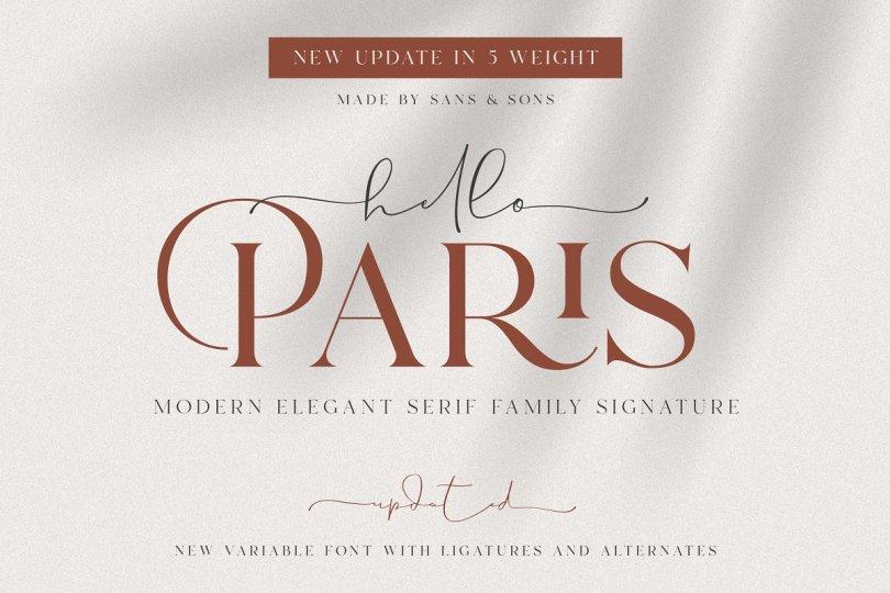 Hello Paris [2 Fonts] | The Fonts Master