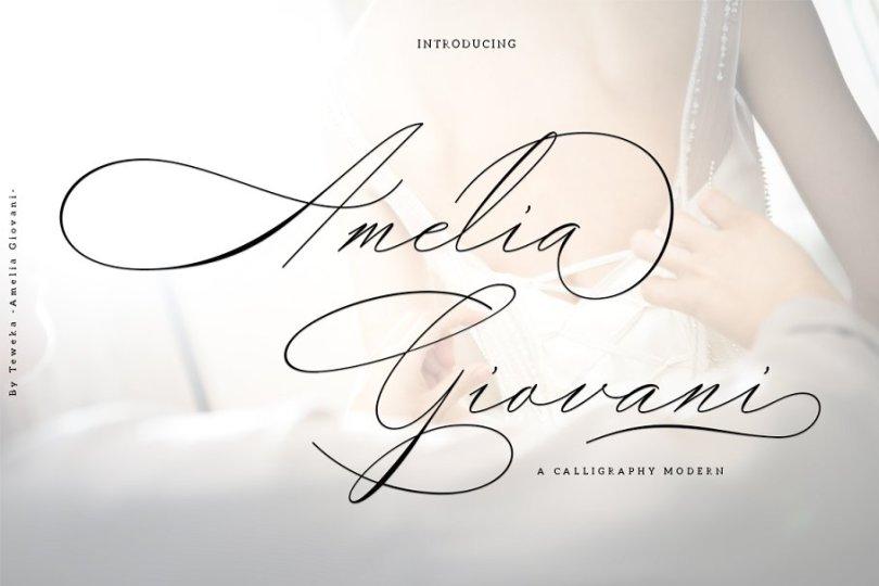 Amelia Giovani [1 Font] | The Fonts Master