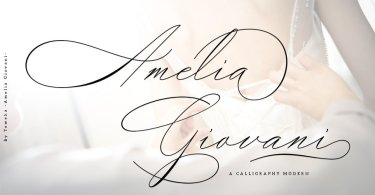 Amelia Giovani [1 Font] | The Fonts Master