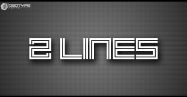 2 Lines [1 Font] | The Fonts Master