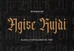 Agise Rujdi [1 Font] | The Fonts Master