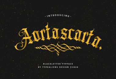 Aortascarta [1 Font] | The Fonts Master