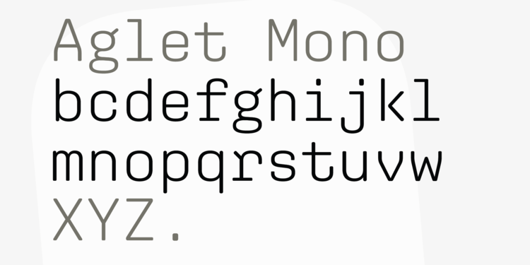 Aglet Mono Super Family [14 Fonts] | The Fonts Master