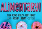 Alimentary [4 Fonts] | The Fonts Master