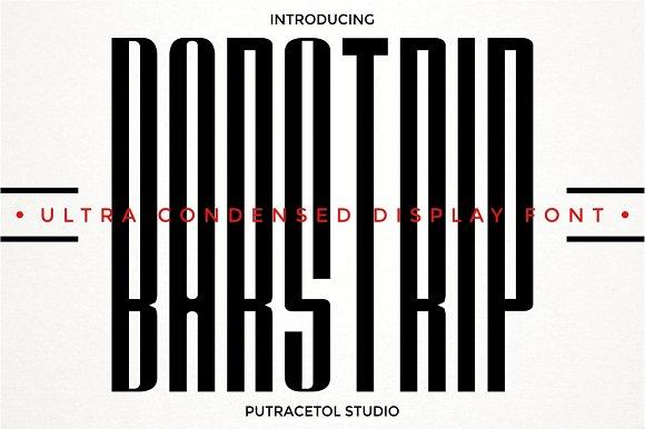 Barstrip [2 Fonts] | The Fonts Master