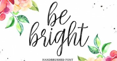 Be Bright [2 Fonts] | The Fonts Master