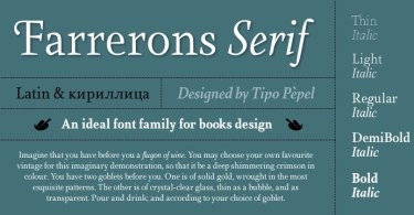 Farrerons Serif Super Family [10 Fonts] | The Fonts Master