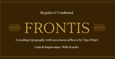 Frontis Super Family [24 Fonts] | The Fonts Master
