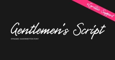 Gentlemens Script [1 Font] | The Fonts Master