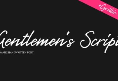 Gentlemens Script [1 Font]   The Fonts Master