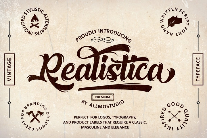 As Realistica [1 Font] | The Fonts Master